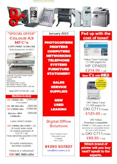 Special offers mono black and white colour a4 a3 for P s furniture flyer